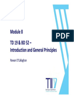 TD19 _ and BD52 Considerations