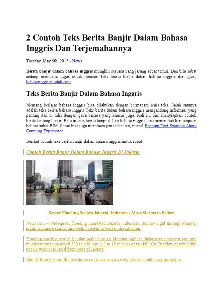 Contoh Teks Reporter Berita Dalam Bahasa Inggris Aneka Macam Contoh