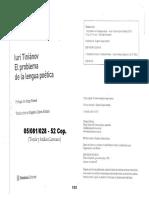 CAPITULO II (Tinianov, El problema de la lengua poética) (1)