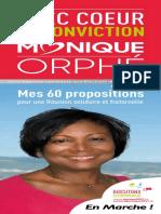 Monique Orphé dévoile son programme