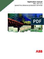 REL 531 - Application Manual - 1MRK 506 107-UEN