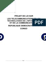 Projet de loi sur les télécommunication en République démocratique du Congo