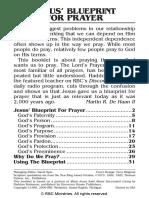 Jesus Blueprint for Prayer