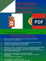 Da Monarquia-Constitucional à República - Final