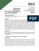 Adrian Schenker - Israelite or Universal Horizon