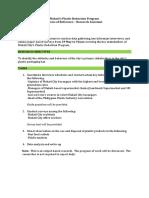 TOR Research Assistant - Makati Plastic Reduction Program