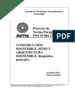 Proyecto de Norma Paraguaya PNP 55 001/14