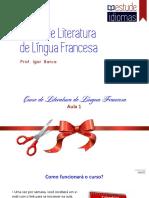 Aula 1- Literatura Francófona