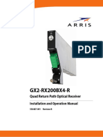 GX2-RX200BX4-R Quad Return Path Optical Receiver Installation and Operation Manual