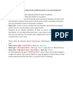 Tipurile de Faina in Functie de Produsele Pentru Care Sunt Destinate