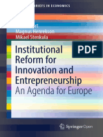 Institutional Reform for Innovation and Entrepreneurship An