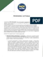 2.Programma Amministrativo Del Candidato Sindaco Angelo Gianfrate