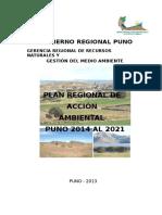 Plan Regional de Accion Ambiental Puno 2014 Al 2021