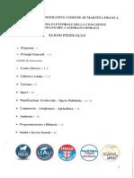 5.Programma Amministrativo Del Candidato Sindaco Eligio Pizzigallo