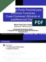 METODO DEL PUNTO PROXIMAL PARA MINIMIZAR FUNCIONES