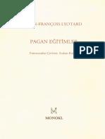 Pagan Egitimler - Jean-Francois Lyotard