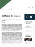 A 20 años del TLCAN