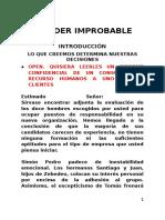 Predicación - El Líder Improbable