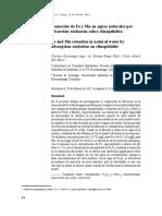 Adsorcion de Fierro y Magnesio en aguas naturales con zeolita natural tipo Clinoptilolita..pdf