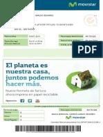 Factura Movistar Internet