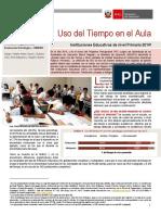 Uso Del Tiempo en El Aula. Instituciones Educativas de Nivel Primaria 2014_0