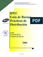 IPEC - Guía Buenas Prácticas Distribución Excipientes Farmacéuticos 2006 Espanol_Revision_Final