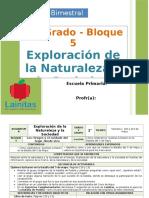 Plan 1er Grado - Bloque 5 Exploración de La Naturaleza