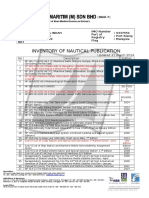 Inventory of Nautical Publication 31.03.2014
