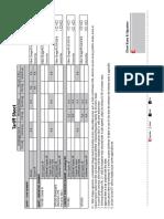 Tariff Sheet Sept 2014