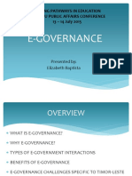 Elizabeth Baptista 2015 presentation on E-governance