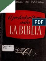 Papiol, Remigio de - El Protestantismo Ante La Biblia