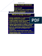 Design to Cost