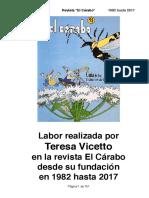 "Teresa Vicetto en la Revista ""El Cárabo"""