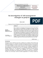 An Investigation of Risk Management Strategies in Projects