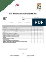 Guía de Observación Comunicación 4-5 Años