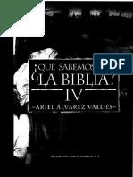 ALVAREZ VALDES, A. - Que Sabemos de La Biblia IV - Fray Juan de Zumarraga, 1997