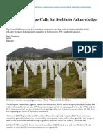 Acknowledge Genocide Srebrenica Engl