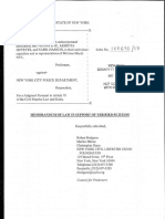 NYCLU Lawsuit Against NYPD