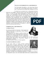 RESEÑA HISTORICA DE LOS PIONEROS DE Lo 2A INFORMATICA gru