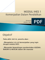 01 Modul Ihes 1 Slot 1 Kemenjadian Dalam Pendidikan Edited