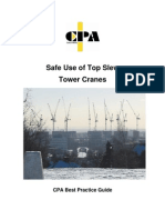Safe Use of Top Slew Tower Cranes