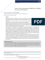 Assessment and Management of the Communication Difficulties of Children