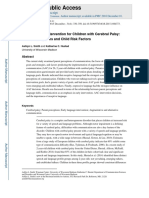 AAC and Early Intervention for Children With Cerebral Palsy