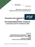 Economics of Barge Based BWT Draft 7 May 2013