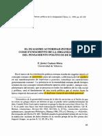 El Dualismo Autoridad potestad Como Fundamento De La Organización y del pensamiento político en Roma