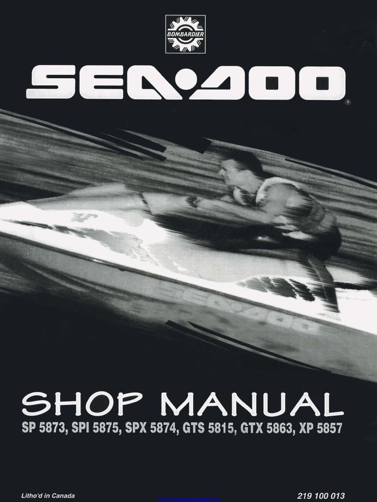 272 000 077 1996 Sea-Doo GTX Personal Watercraft