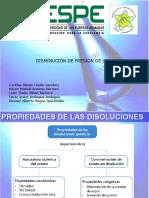 Propiedades-coligativas - Disminucion de Presion de Vapor