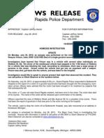 Vinson Homicide Update