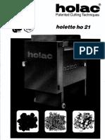 Holac HO21 Manual 21-048-01