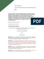 Ley Seguridad Interior Argentina